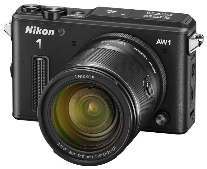 The Nikon 1 AW1 in black