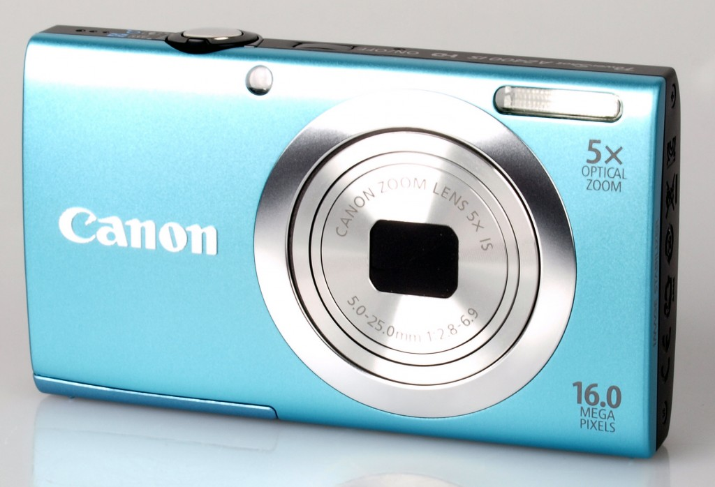 Canon PowerShot A2400 IS in turquoise