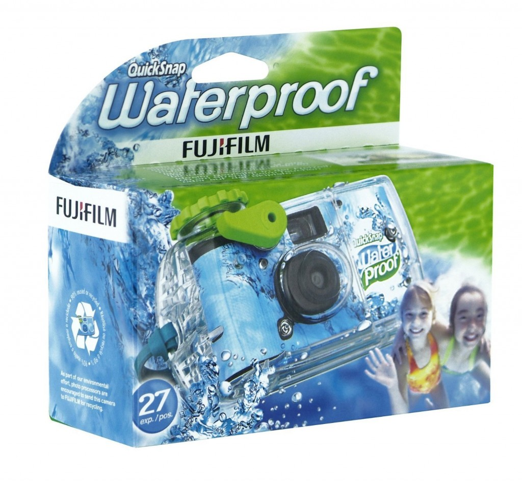 A disposable underwater camera from Fuji