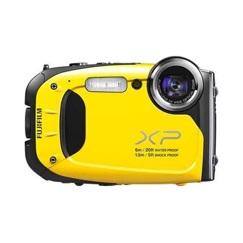 Yellow FujiFilm Finepix XP60 camera