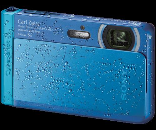 The Sony Cyber-Shot TX30 model in blue