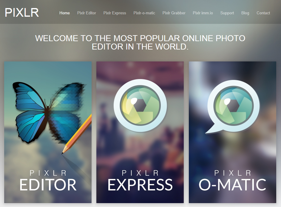 free photo editing software - Pixlr