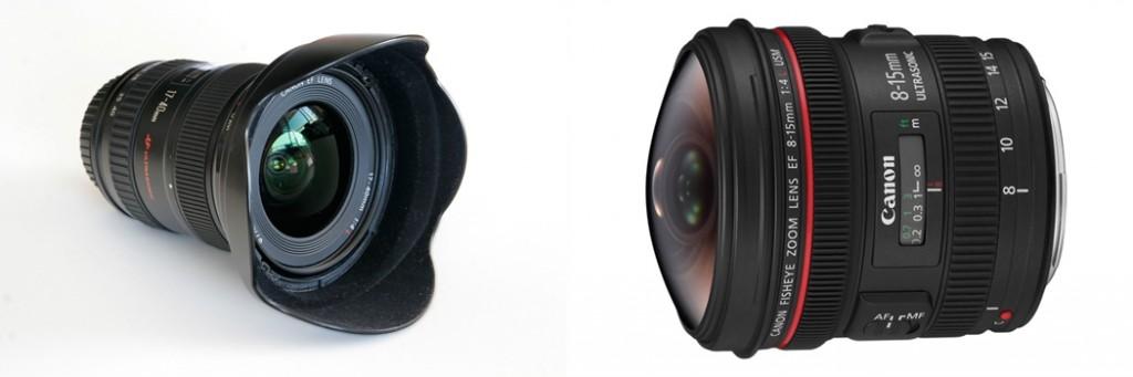 wide angle vs fisheye lens image