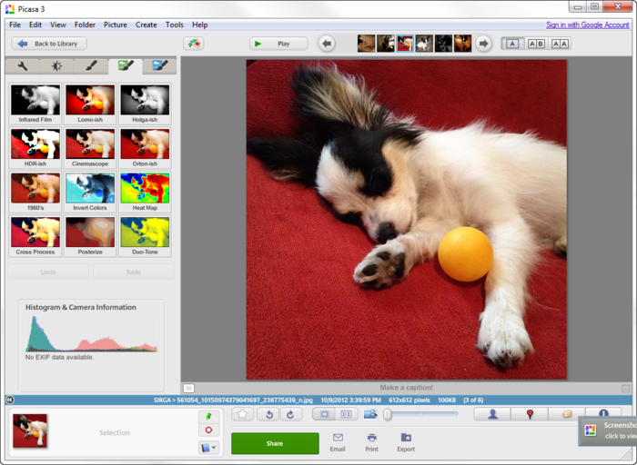 free photo editing software - Picasa