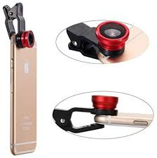 KingMas Universal Clip-on 3 in 1 Fisheye + Wide Angle + Macro Camera Lens for iPhone 5