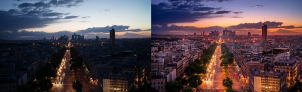 photo retouching of a sunset