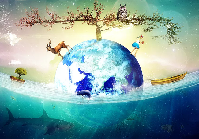 Planet Earth Photo Manipulation in Photoshop