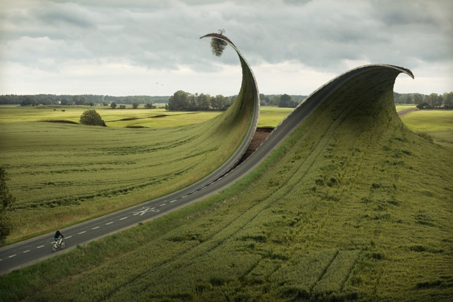 Cut & Fold Photo Manipulation by Erik Johansson