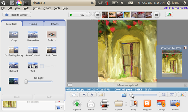 Picasa - Picture Editing Software Screenshot