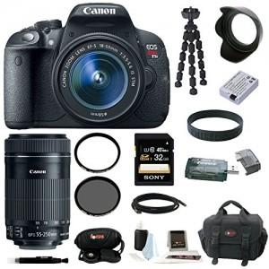 Canon-EOS-Rebel-T5i-with-EF-S-18-55mm-f35-56-IS-STM-Zoom-Lens-and-Canon-EF-S-55-250mm-f4-56-IS-STM-plus-32GB-Deluxe-Accessory-Kit
