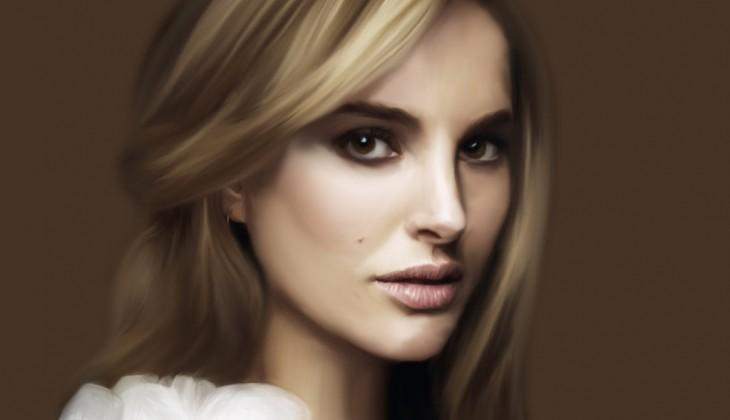 Digital painting of Natalie Portman