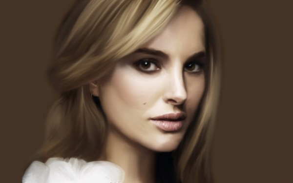 Digital painting of Natalie Portman