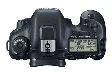 Canon EOS 7D Mark ii top controls