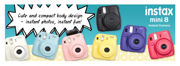 Fujifilm Instax Mini 8 cute instant film camera