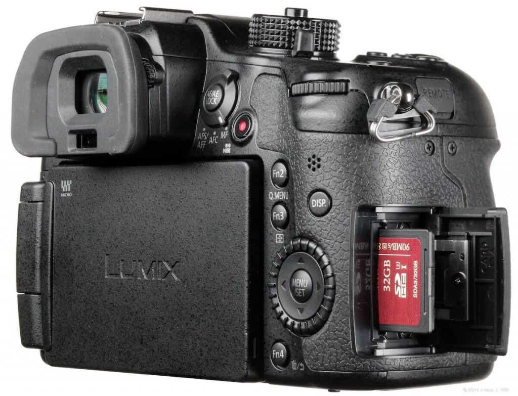 Panasonic GH4 back of camera