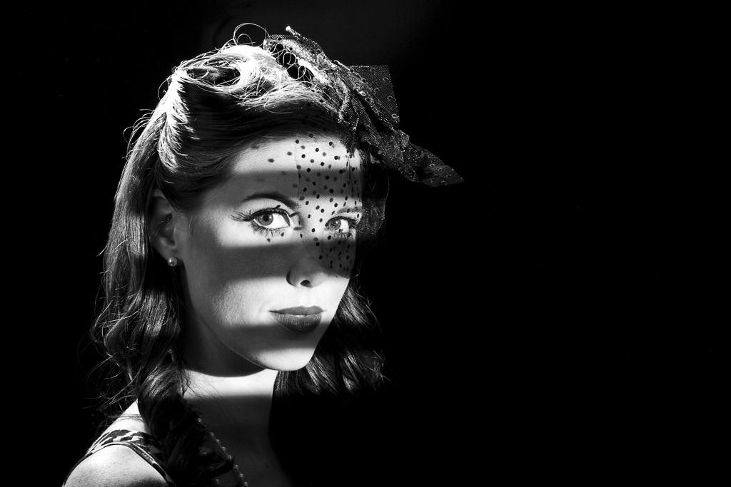 film noir portrait low key lighting