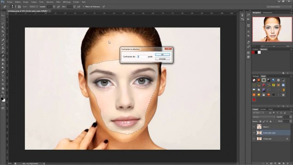 photoshop face swap using selection