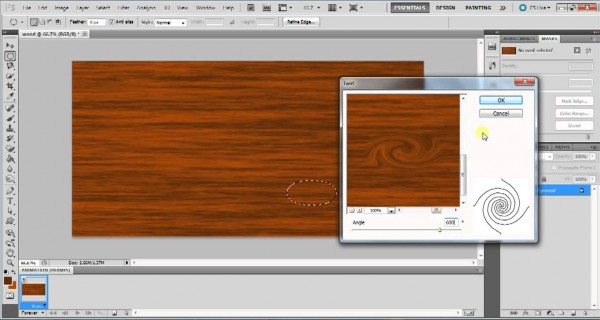 creating a wood texture in photoshop