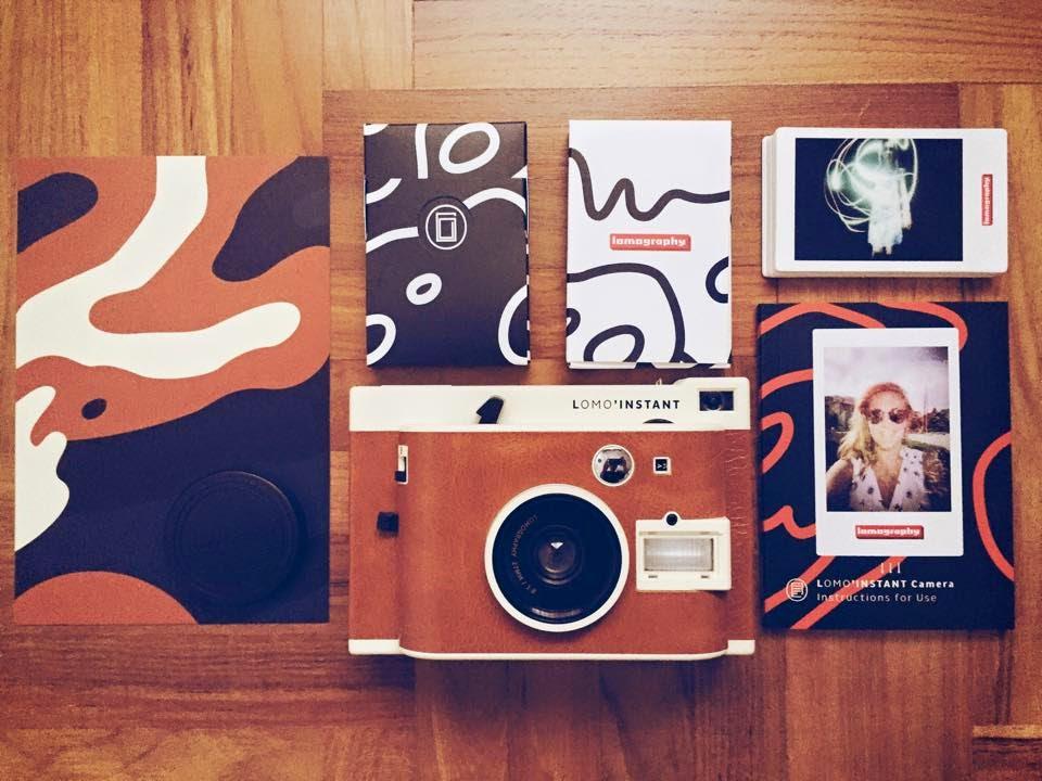 lomo instant camera with photos