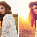 photoshop haze before and after