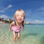 fisheye camera portrait girl beach
