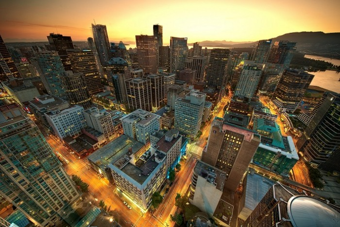 photographing cityscapes Vancouver from above
