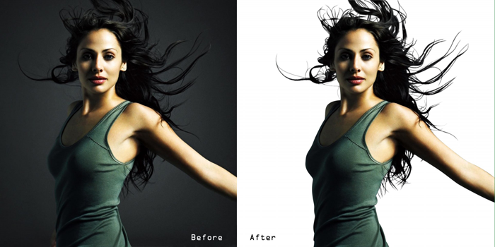 before and after photo applying masks in photoshop