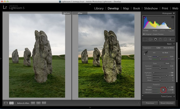 editing in adobe lightroom