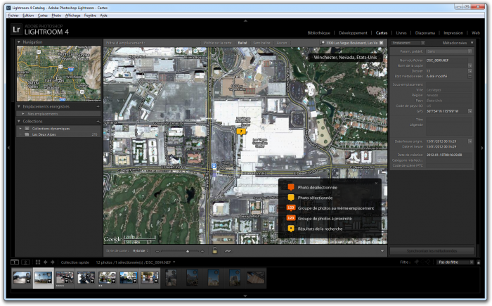 adobe lightroom geotagging option