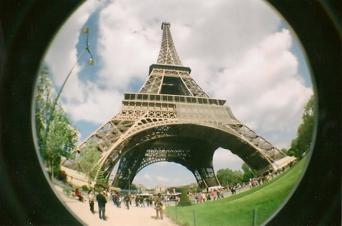 paris lomography fisheye film photography