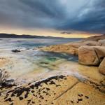 bicheno seascape scenic beach rocks
