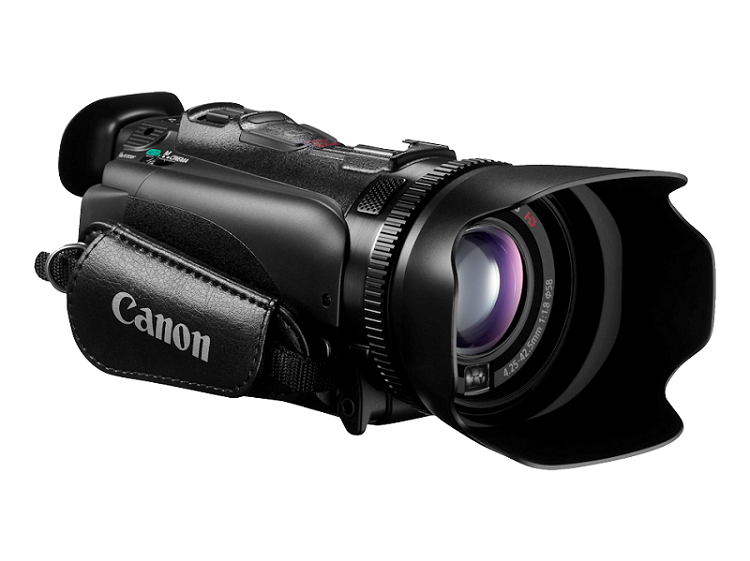 front and side view of the Canon XA10 Camcorder