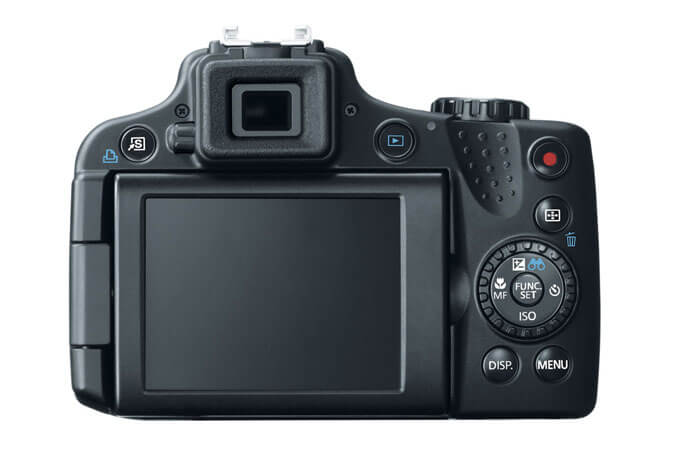 Canon Powershot SX50 HS LCD and controls