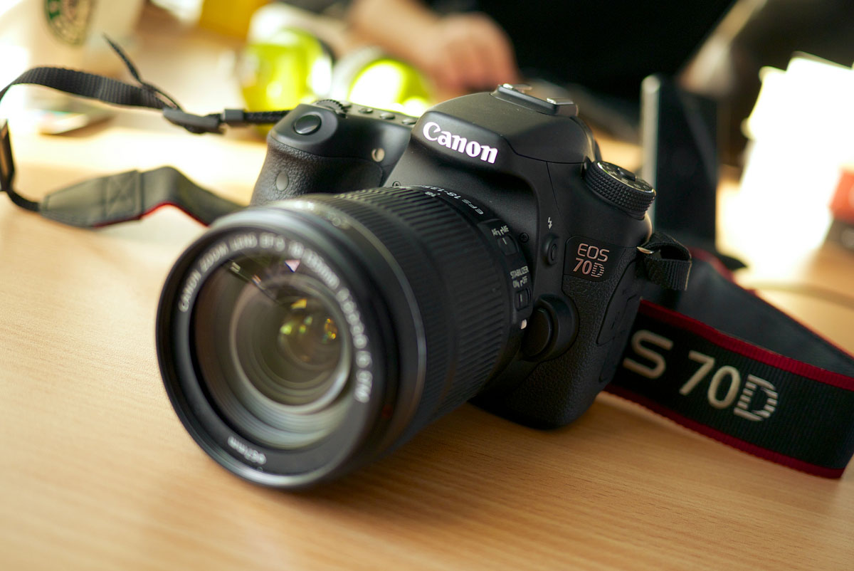 Canon 70D DSLR camera