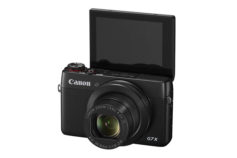 Canon G7 X LCD touchscreen