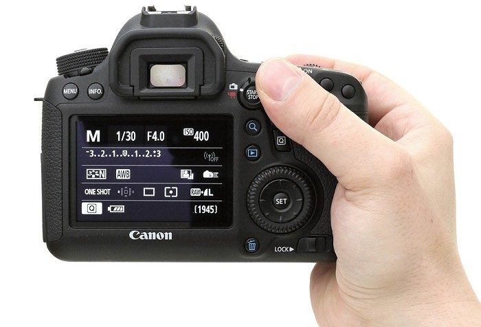 Canon 6D display and settings