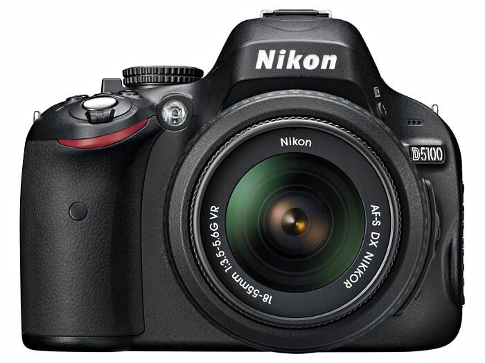 Nikon D5100 front view