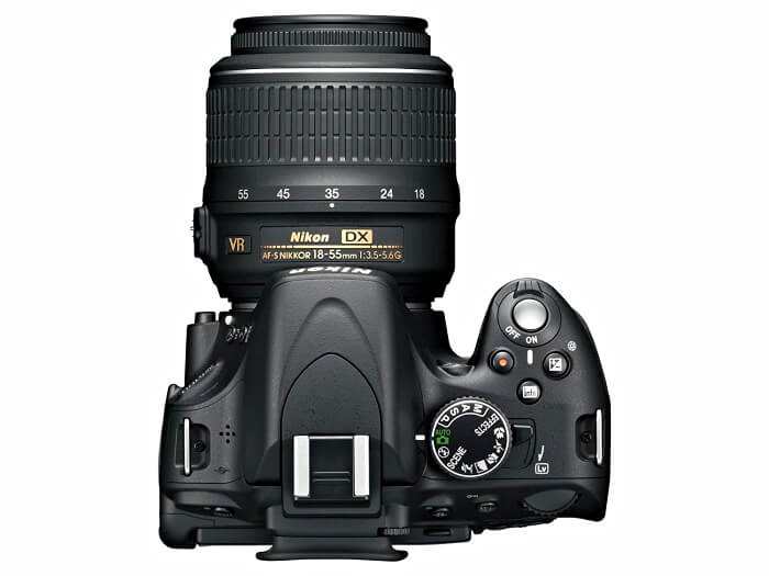 Nikon D5100 overhead view