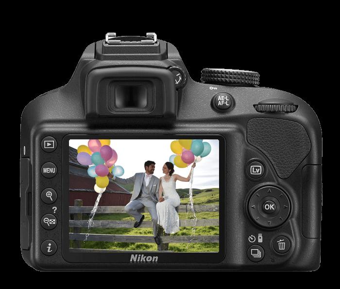 Nikon D3400 LCD display