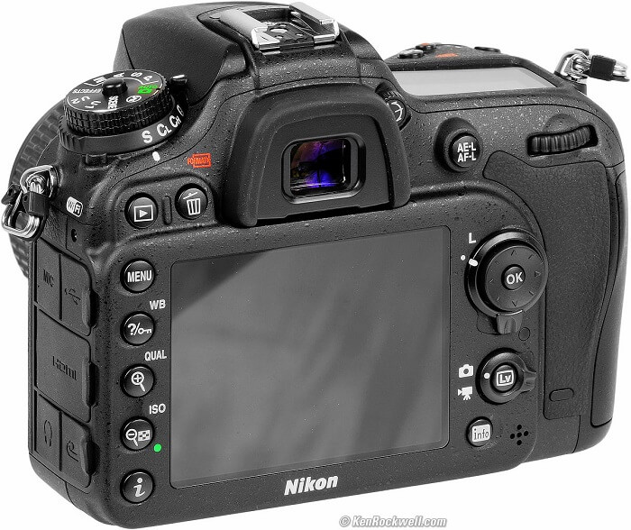 Nikon D7200 LCD
