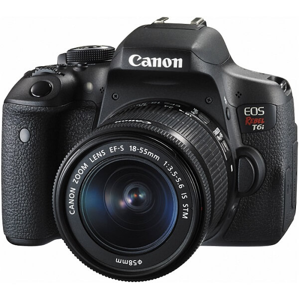 Canon T6i body and lens