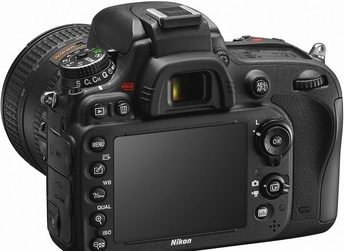 Nikon D600 rear