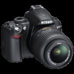 Nikon D3000 DSLR with lens
