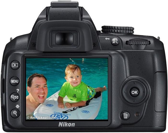 Nikon D3000 rear view