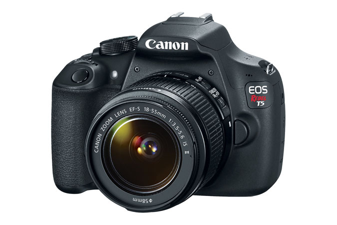 Canon EOS Rebel T5 DSLR body and lens