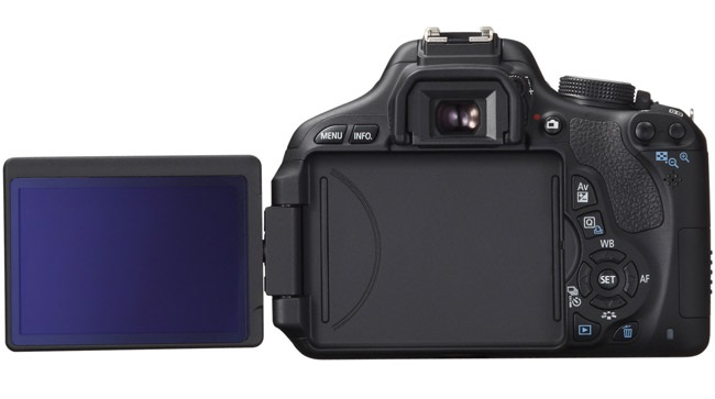 Canon Rebel T3i display, rear view