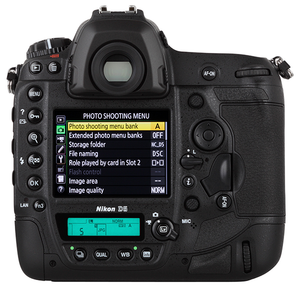 Nikon D5 LCD