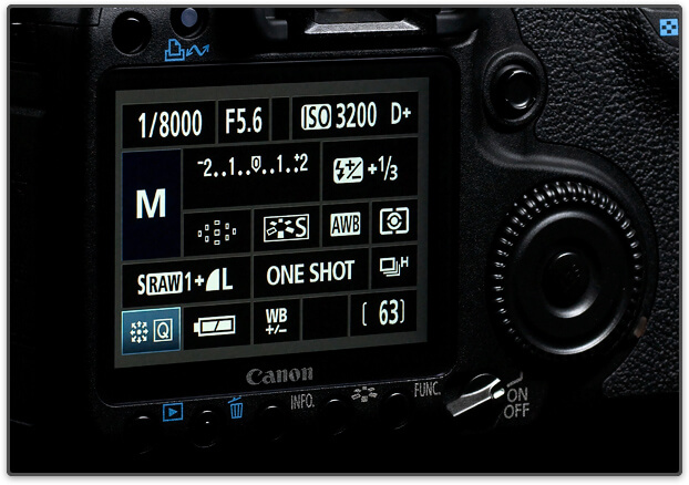 Canon 50D display