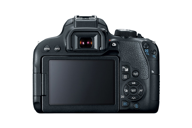 Canon EOS Rebel T7i display