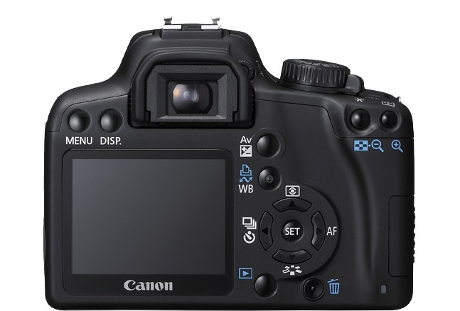 Canon Rebel XS  back view